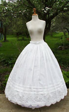 ANTIQUE DRESS PETTICOAT 1860 CIVIL WAR VOLUMINOUS PETTICOAT BRODERIE ANGLAISE