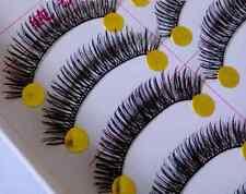 10 Pairs Natural Long Thick Black False Eyelashes Makeup Charming Eyes Lashes
