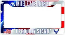 VETERAN US Air Force - I PROUDLY STAND License Plate Frame