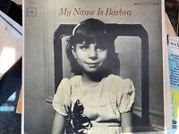 Barbra Streisand – My Name Is Barbra -  Columbia – CS 9136 - 1965 - Vinyl LP