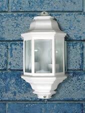 Aplique exterior, farol aluminio color blanco
