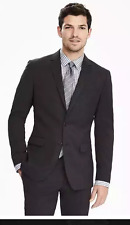 NWT BANANA REPUBLIC SLIM SOLID BLACK SUIT ( ALL SIZES ) 2017 COLLECTION