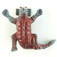 Plastic Monster Arms Raised Up High in Victory with Tail Alien Vintage Cup Hands