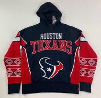 NWT - NFL TEAM APPAREL - HOUSTON TEXANS HOODED SWEATER  - BOYS LARGE 14/16