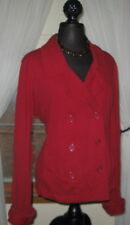 Norma Kamali Women's Jacket Double Breasted Pea Coat Style Red size XXL