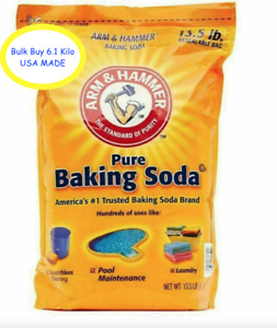 Arm & Hammer Food Grade Pure Baking Soda 6.1kg Bulk Resealable Bag 2021 Stock