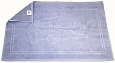 "LACOSTE Blue TOWEL Terry BATH MAT Alligator 30"" x 20"" COTTON Free Shipping"