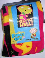 RARE NEW Family Guy STEWIE BABY GO TO HELL COZY Fleece Plush Throw Blanket 45X60