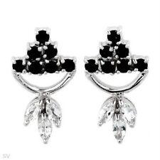 Topaze Earrings In Ss Beautiful New Sapphire &