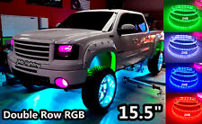 "JHB4PCS 15.5"" Double Row Pro RGB Color Change illuminated LED Wheel Lights SET"