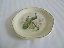 palissy Royal Worcester plate . small peacock design