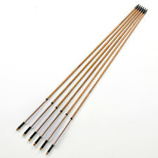 X6 Handmade Archery Bamboo Arrows White Turkey Feathers For Longbow And Recurve