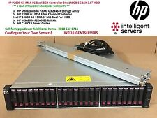 HP P2000 G3 MSA FC Dual 8GB Controller 24x 146GB 6G with Rails ** AP846A **