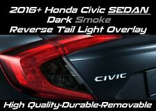 DARK SMOKE REVERSE TAIL LIGHT OVERLAY TINT for 2016-2020 HONDA CIVIC SEDAN