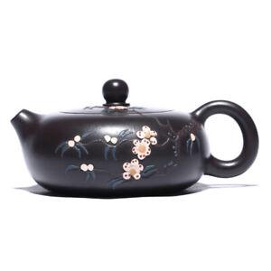 handmade tea pot marked floral brief Chinese real yixing zisha xishi pot of tea