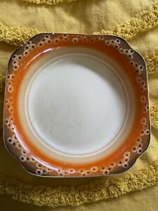 Clarice Cliff Newport Pottery Orange Speckled Bowl