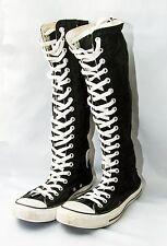 Converse All Star Chuck Taylor Knee High Sneakers Black Women's Sz 9 Mens 7 Zip