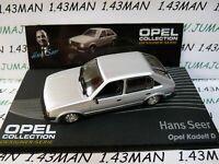 OPE139 1/43 IXO designer serie OPEL : KADETT D Hans Seer Silver thermopompe