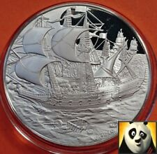 THE BRITISH MARITIME HISTORY HMS ARK ROYAL Silver Proof Medal Coin