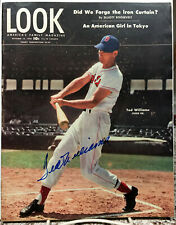SCARCE TED WILLIAMS SIGNED--AUTOGRAPHED 1946 LOOK MAGAZINE--RED SOX - JSA LETTER