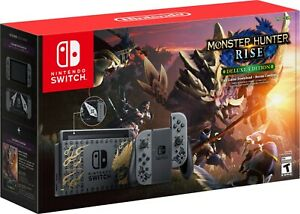 Nintendo - Switch MONSTER HUNTER RISE Deluxe Edition System - Gray/Gray