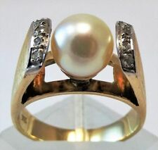 Ring Pearl 14k Yellow Gold Vintage & Antique Jewellery