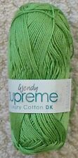 Wendy Supreme Luxury 100 Cotton Double Knit Wool 100g Combined Lettuce - Shade 1965