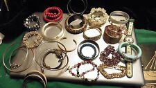 Metal Box Of Bangles (and other bracelets).Lot 20+
