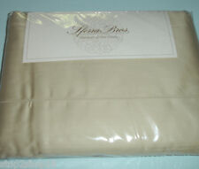 Sferra ELYSE King Sheet Set TAUPE Egypt Cotton Sateen Hemstiched 300TC Italy NEW