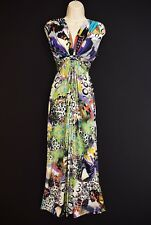 MAILLE DEMOISELLE Ladies Bohemian Maxi Dress Hippy Festival Psychedelic 10 12