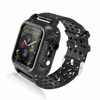 For Apple Watch 4/5 Series 44mm Wateproof Case Rugged Protective With Strap Band