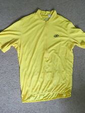 NICE Performance yellow short-sleeve half-zip cycling jersey - mens L
