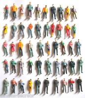25/100 x wholesale joblot model railway train people figures OO gauge 20-25 mm