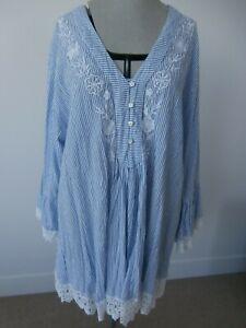 Katamaran (from Kabana) Brooke Blue & White Stripe Tunic - XL - BNWT
