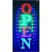 Vertical OPEN Business Bar Cafe Restaurant Window LED Grocery Store Sign neon
