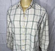Madewell Flannel Shirt Button Front Long Sleeve Plaid Checks Women Sz Small