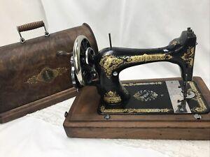 RESTORED 1901 Heavy Duty Antique Vtg Singer 28 Hand Crank Sewing Machine Ornate