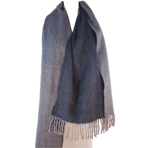 H&M Over sized Scarf Gray Blanket Fringed Long Grey Neck Wrap Warm Soft