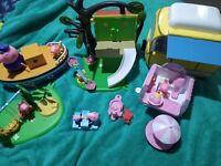 Peppa pig Large playground, playset bundle, Grandpa boat, figures, accessories