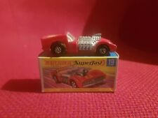 MATCHBOX ANCIENNE SUPERFAST ROAD DRAGSTER N°19 EN BOITE D ORIGINE NO DINKY TOYS