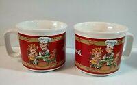Campbell's Soup ~ Bowls Kids Design Houston Harvest  (set of 2) 1998