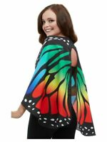 NEW Monarch Butterfly Fabric Multi-Coloured Wings Smiffys Fancy Dress Accessorys