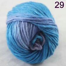 SALE NEW Chunky Colorful Hand Knitting Scores Wool Yarn Navy Blue Turquoise