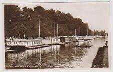 Oxfordshire postcard - College Barges, Oxford - RP