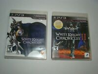 PlayStation 3 PS3 White Knight Chronicles 1 & 2 games complete, tested working