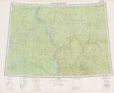 Russian Soviet Military Topographic Maps -SEVERO-YENISEYSKIY 1:1Mio, ed.1956
