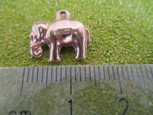 9ct Gold Elephant Rare Charm Bracelet Necklace Pendant 375