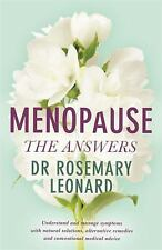 THE MENOPAUSE - LEONARD, ROSEMARY - NEW PAPERBACK BOOK