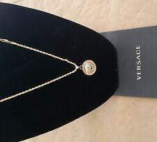 """Gold,Medusa Head Pendant (3cm) 24kt,Gold Filled & 24"""" Rope (4mm) 14k Chain,"""