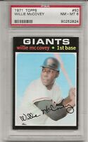 1971 TOPPS #50 WILLIE MCCOVEY. PSA 8 EX-MT, HOF, S.F. GIANTS, CENTERED, L@@K